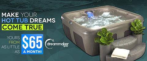 mobile banner hot tub dreams